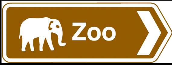 Zoo sign - South Lakes Safari Zoo